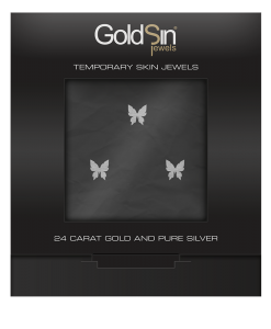 3 Little Butterflies Silver-825