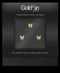 3 Little Butterflies gold-731