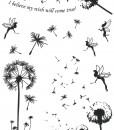 Make a wish tattoo black
