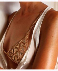 Armor chain bra