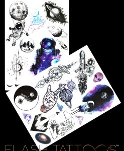 From Space with Love Flash Tattoos Romania Black Ink