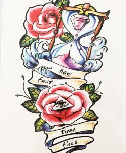Tatuaj temporar How fast time flies