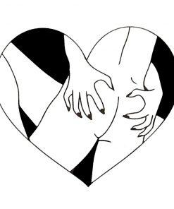 Love hurts Black Ink Flash Tattoos Romania Tatuaj Temporar