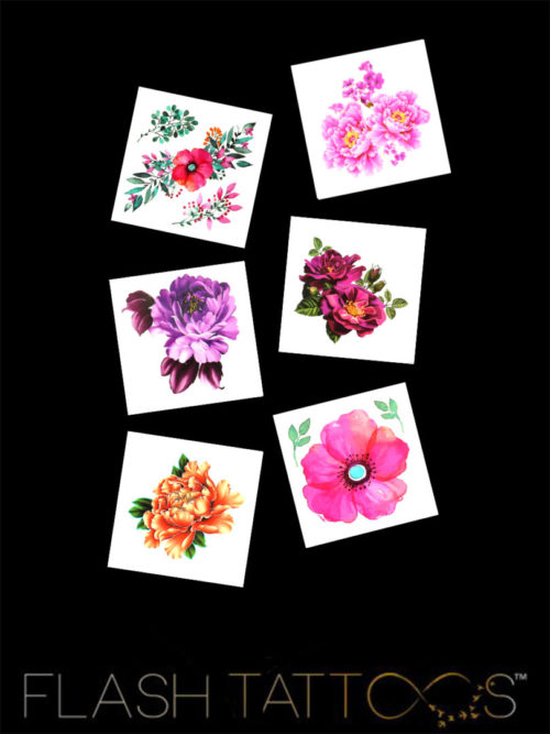 Flower Power Flash Tattoos Romania tatuaje temporare