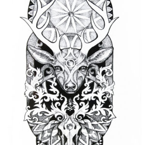 The Forest Priestess Flash Tattoos Romania Black Ink Tatuaje temporare