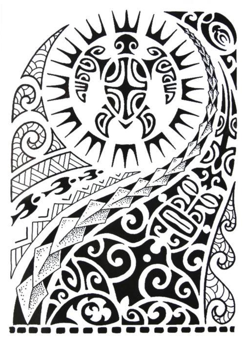 Maori Art BlackInk Flash Tattoos Romania Tatuaje temporare 1