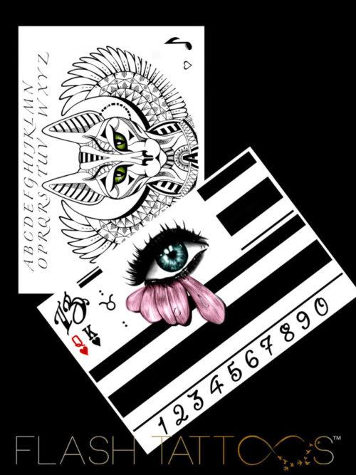 Flash Tattoos by Antonia Black Ink Tattoos