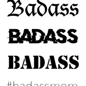 Badass by Giulia X Flash Tattoos Black Ink Tatuaje Temporare 1