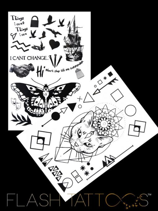 Night worshipers tatuaj temporar black ink