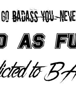 Badass by Giulia X Flash Tattoos Black Ink Tatuaje Temporare 2