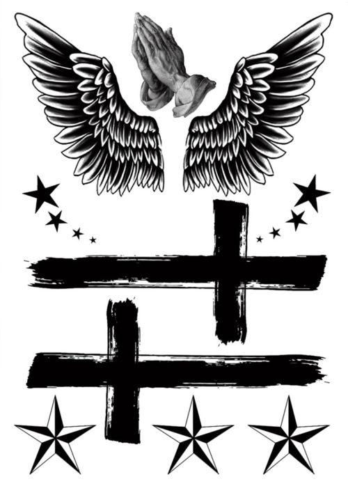 For we live by faith, not by sight Flash Tattoo BlackInk Tatuaj Temporar