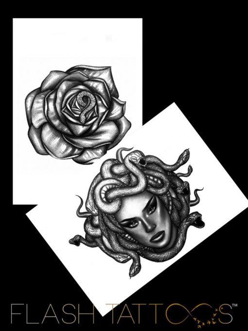 Medusa Money by Alina Ceusan Curated Ink Flash Tattoos Romania