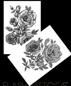 Victoria Rose Garden by Alina Ceusan Curated Ink Flash Tattoos Romania