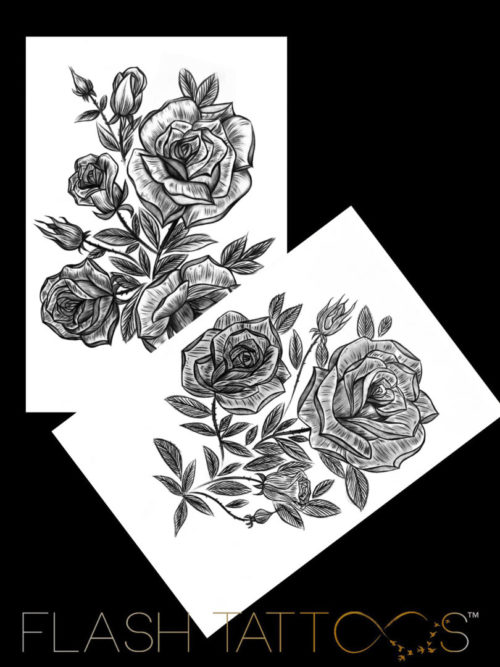 Victoria Rose Garden by Alina Ceusan Curated Ink Flash Tattoos Romania