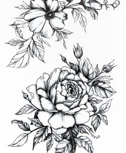 Flower Symphony BlackInk Flash Tattoos Romania Tatuaj temporar