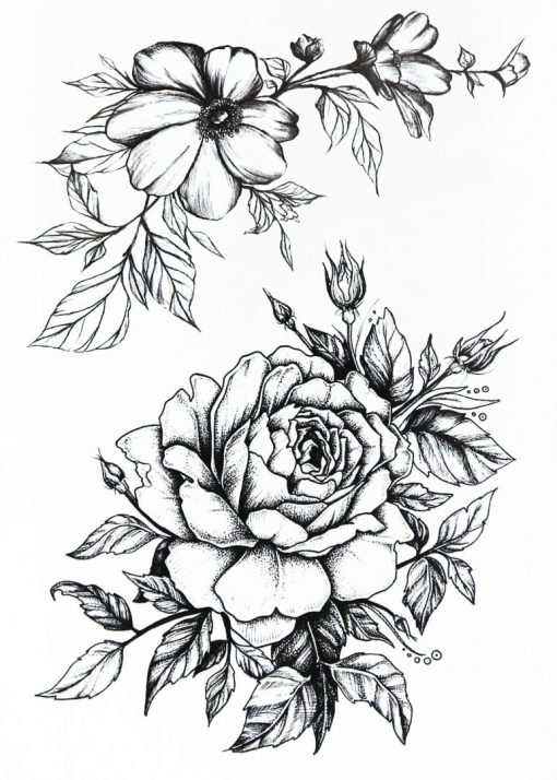 Flower Symphony BlackInk Flash Tattoos Romania Tatuaj temporar