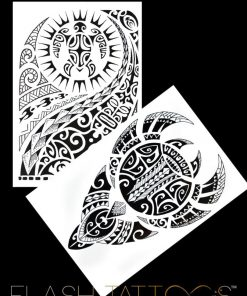 Maori Art BlackInk Flash Tattoos Romania Tatuaje temporare