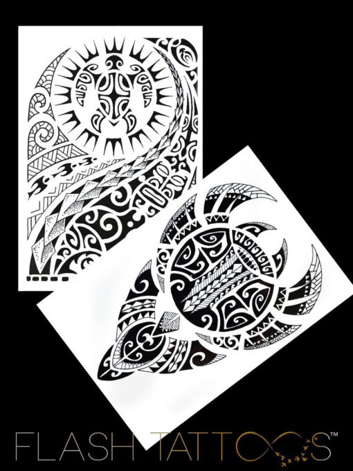 Maori Art BlackInk Flash Tattoos Romania Tatuaje temporare