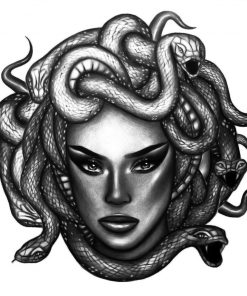 Medusa Money by Alina Ceusan Curated Ink Flash Tattoos Romania 1