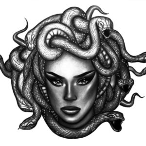Medusa Money by Alina Ceusan Curated Ink Flash Tattoos Romania 1