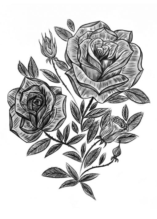 Victoria Rose Garden by Alina Ceusan Curated Ink Flash Tattoos Romania 2