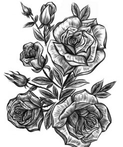 Victoria Rose Garden by Alina Ceusan Curated Ink Flash Tattoos Romania 1