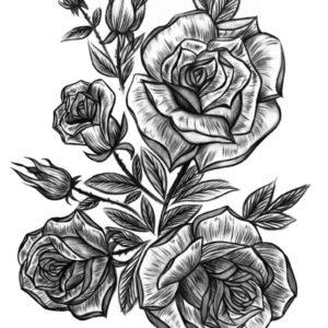 Victoria Rose Garden by Alina Ceusan Curated Ink Flash Tattoos Romania 1