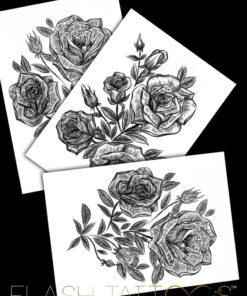 Victoria Rose Garden Sleeve by Alina Ceusan Curated Ink Flash Tattoos Romania