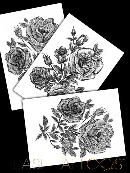 Victoria Rose Garden Sleeve by Alina Ceusan Curated Ink Flash Tattoos Romania
