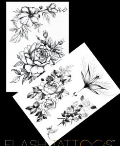 Flower Symphony BlackInk FlashTattoos Romania