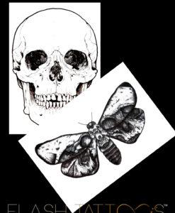 ***Metamorphosis Black Ink Flash Tattoo Tatuaj temporar