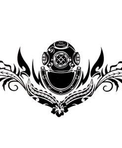 Poseidons touch Black Ink Flash Tattoo Tatuaj Temporar