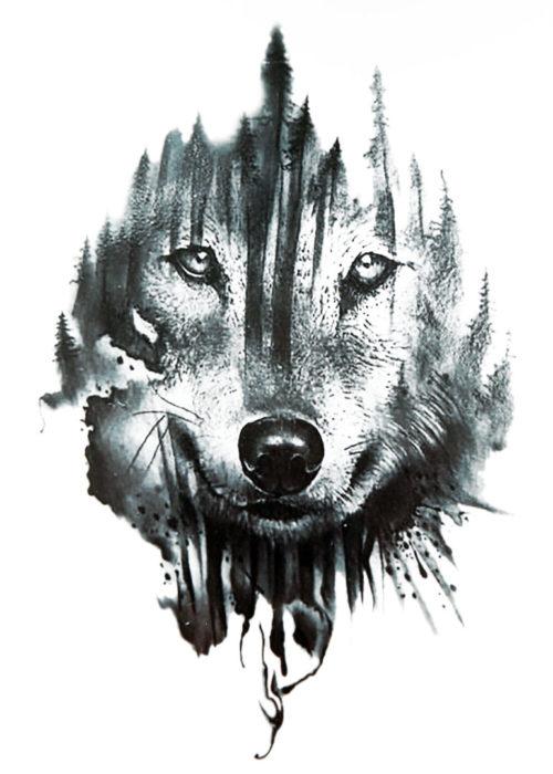 Watch the sheep Wolf Black Ink Flash Tattoos Romania Tatuaje Temporare