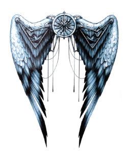 Fallen Angelwings BlackInk Flash Tattoos Romania Tatuaje Temporare 2