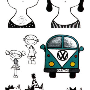 Shiny Happy People Black Ink Flash Tattoos Romania Tatuaje temporare 1