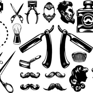 Mr Barber - Barbershop tattoos Flash Tattoos Tatuaje temporare
