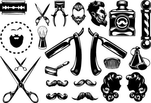 Mr Barber - Barbershop tattoos Flash Tattoos Tatuaje temporare