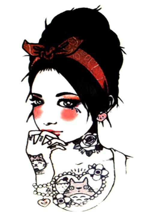 Kitty von Teese FlashTattoos Romania Black Ink