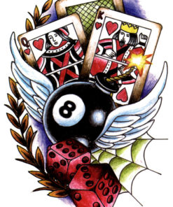 Casino Royal FlashTattoos Romania Black Ink Tattoo Tatuaj Temporar