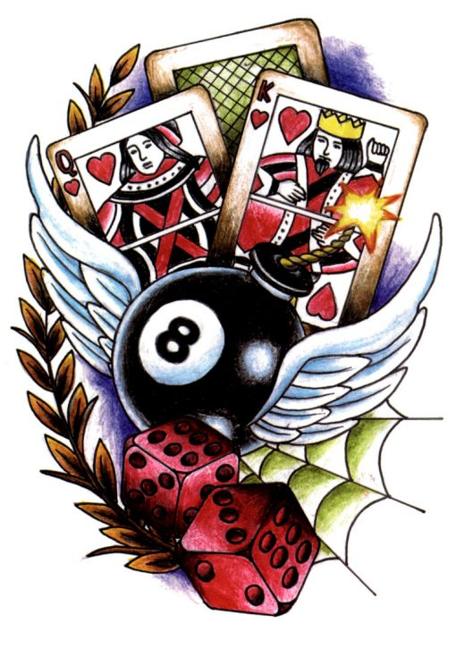 Casino Royal FlashTattoos Romania Black Ink Tattoo Tatuaj Temporar