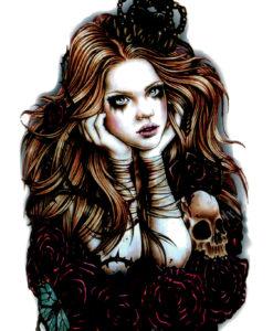 Goth Princess Tatuaj temporar Flash Tattoos Romania