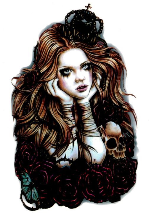 Goth Princess Tatuaj temporar Flash Tattoos Romania