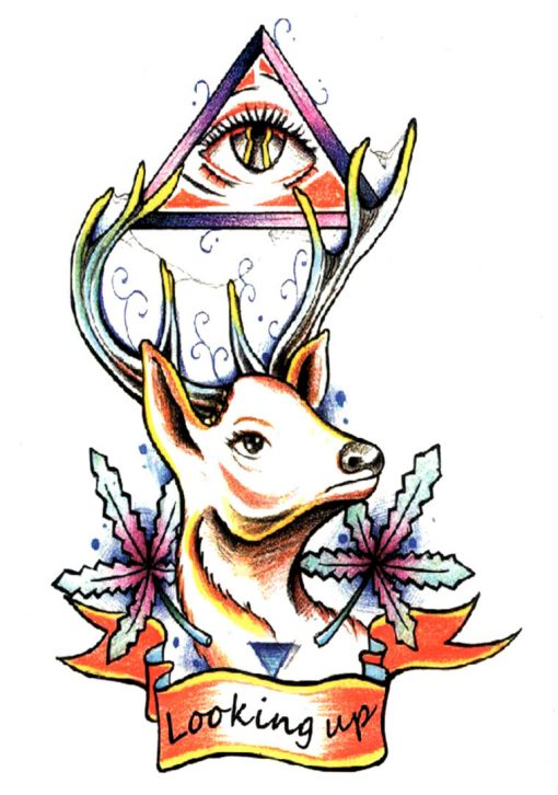 Looking Up Tatuaj temporar Flash Tattoos Romania