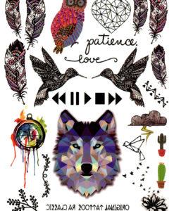 Throw me to the wolfes FlashTattoos Romania Tatuaj Temporar