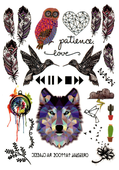 Throw me to the wolfes FlashTattoos Romania Tatuaj Temporar