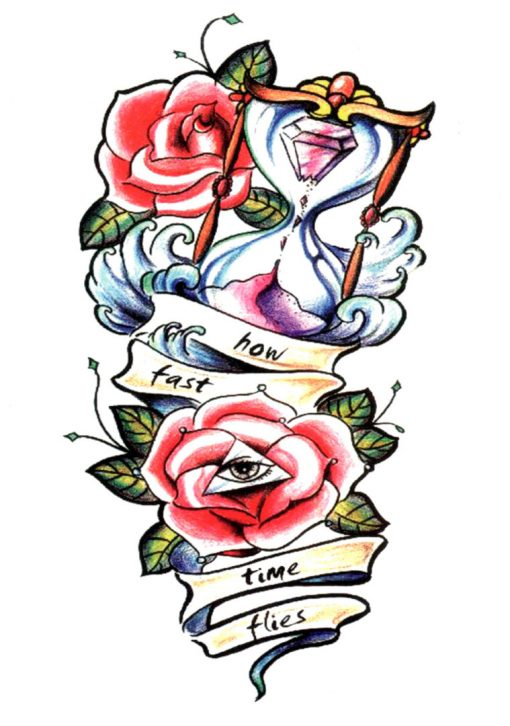 Tatuaj temporar How fast time flies Flash Tattoos Romania