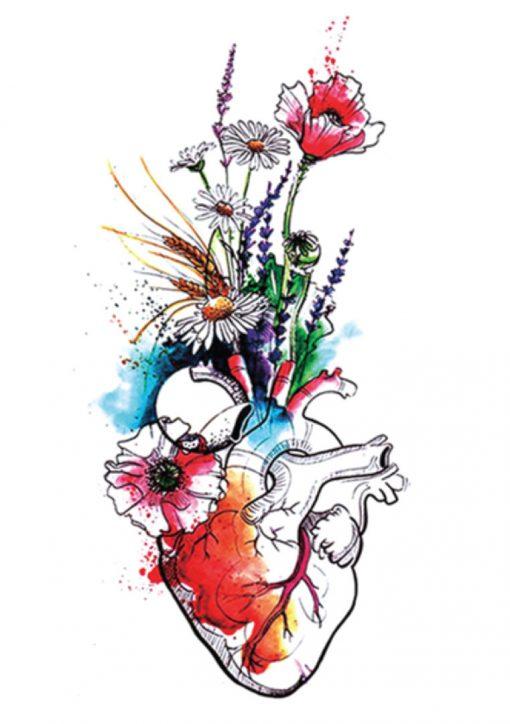 From the heart Black Ink Flash Tattoo Tatuaj temporar