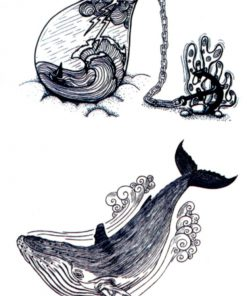 Nautilus's Findings Flash Tattoos Romania Tatuaje Temporare Whale tattoo