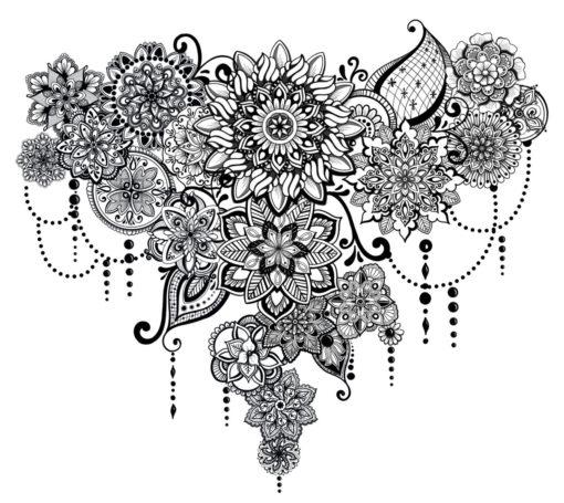 The Birth of Mandalas Flash Tattoo Romania Black Ink Tatuaje Temporare