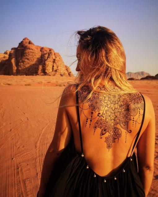 The Birth of Mandalas Flash Tattoos Romania Back Tatuaje temporare spate